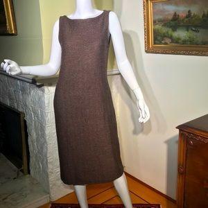 Ralph Lauren Wool Stretch Blend Sleeveless Dress
